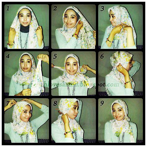 gambar tutorial hijab paris remaja hijabers tutorial sakinah til cantik dan modis dengan