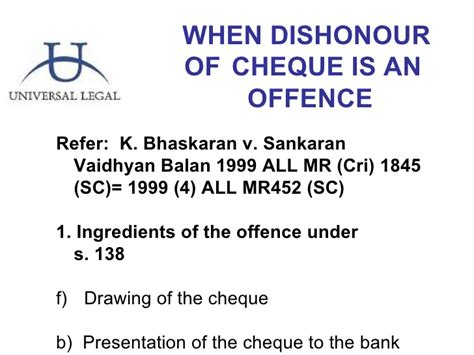 section 138 nia dishonor of cheques