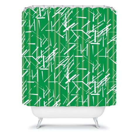 Emerald Green Shower Curtain by Harris Konstructivist Emerald Shower Curtain