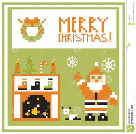 view card room santa pixel holidays card living room with santa background stock illustration image 51464379