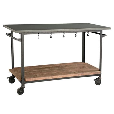 kitchen island rolling cart kitchen islands made from industrial carts let s stay