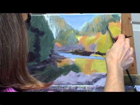 acrylic painting demo quot umpqua reflections quot part 1 acrylic autumn river