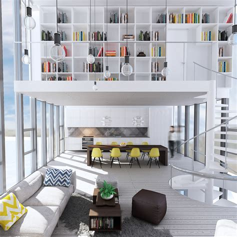 cleaners interior design wondrous white three lofts with clean bright interiors