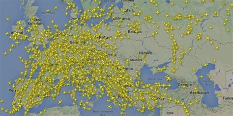 us weather map for flying flight radar shows planes avoiding ukraine in aftermath of