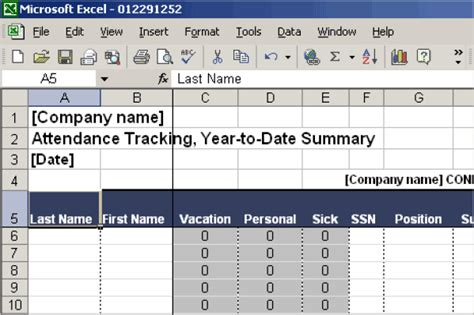 13 Attendance Tracking Templates Excel Pdf Formats Employee Attendance Record Template Excel