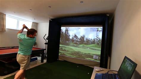 skytrak home golf simulator with the golf club software