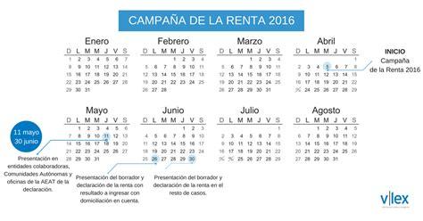 fechas presentacion declaracion de renta ao 2016 calendario renta 2016 n 250 m 152 febrero 2017 blog de
