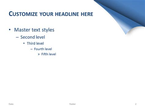 Turn The Page Template For Powerpoint Blue Page Turning Effect In Powerpoint