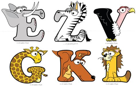 printable animal shaped letters teach your child the abc with animal alphabets