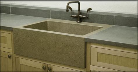concrete countertops with farmhouse sink pin by clary on kitchen