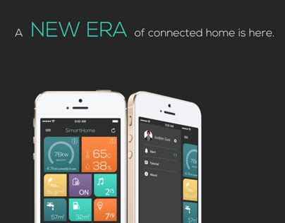 ios home automation on behance