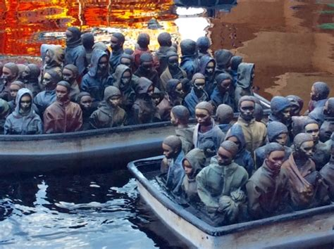 dismaland refugee boat confronting sickly realities at banksy s dismaland tim