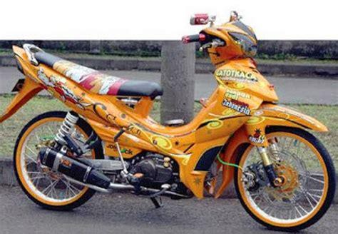 Jupiter Z Modif Airbrush by Modif Jupiter Z Standar Burhan Ala Road Race Airbrush Moto