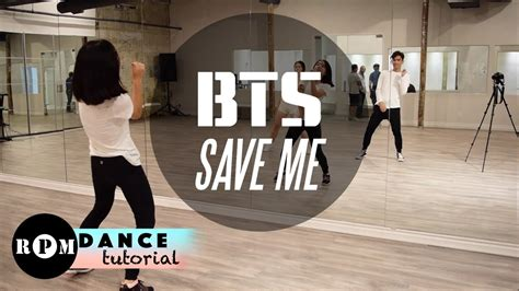 tutorial dance danger bts bts quot save me quot dance tutorial chorus