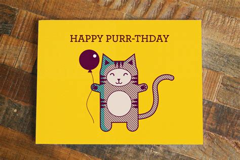 Cat Birthday Card Printable Invitations Cat Birthday Cards Free Printable Cat