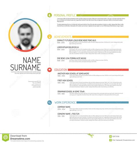page layout en espanol cv resume template stock vector illustration of layout