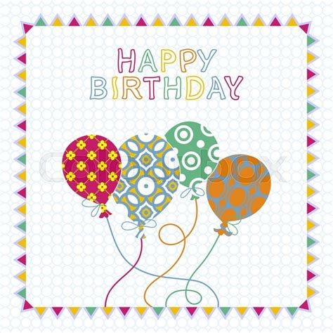 birthday card from baby template happy birthday card design with balloons creative