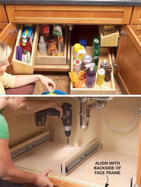 kitchen sink organizer ideas