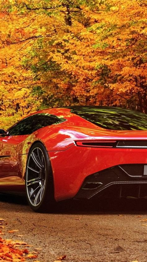 car scenery wallpaper 640x1136 aston martin in autumn scenery iphone 5 wallpaper