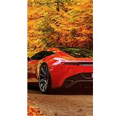 640x1136 Aston Martin In Autumn Scenery Iphone 5 Wallpaper