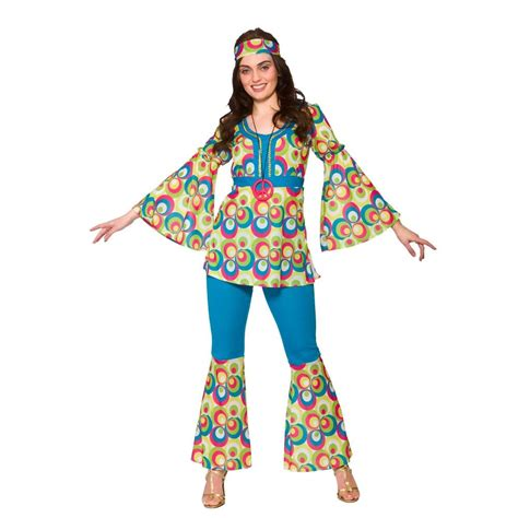 Wardrobe Fancy Dress by 60s 70s Groovy Hippy Flower Power Womens