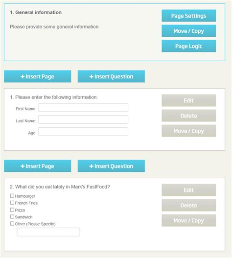 Create Online Survey Form - tutorial creating and deploying online surveys creating questions and pages cont 2