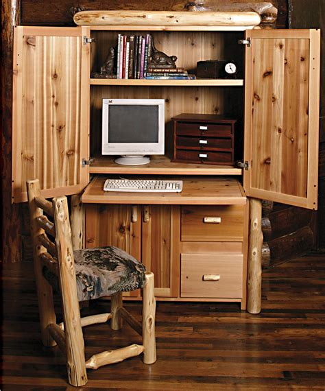 Rustic Office Rustic Furniture Mall By Timber Creek Log Computer Desk