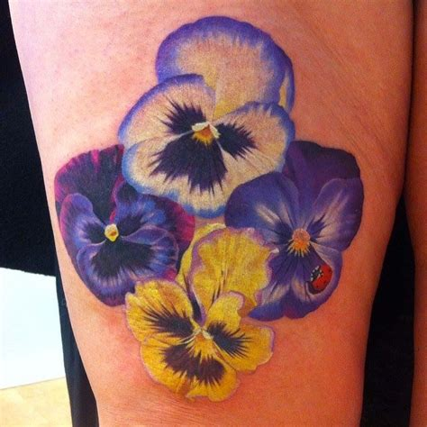 pansy flower tattoo 25 best ideas about pansy on violet