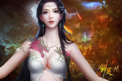 fantasy tattoo girl wallpaper fantasy girl full hd wallpaper and background image