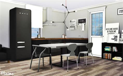 cc furniture sims 4 mxims scandinavian dining room all by request s 248 ren