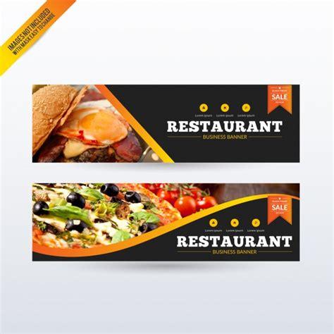 design banner restaurant restaurant banners set vector free download