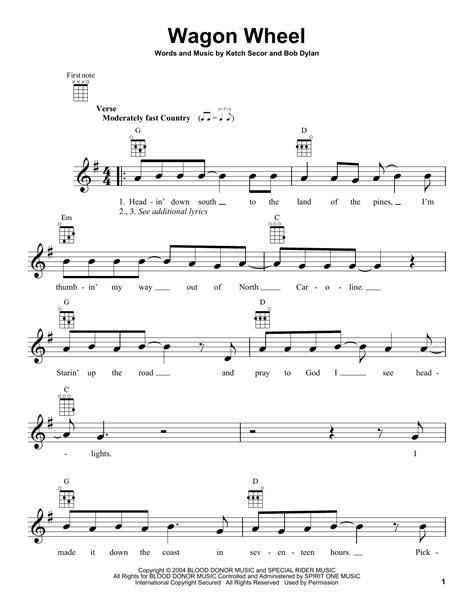 guitar tutorial wagon wheel wagon wheel by bob dylan ukulele guitar instructor