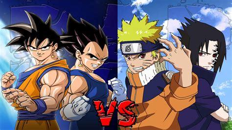 imagenes de naruto vs goku rap rap battle goku and vegeta vs naruto and sasuke youtube
