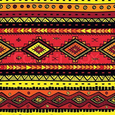 ethno muster nahtlose abstrakte handgezeichnete ethno muster stammes