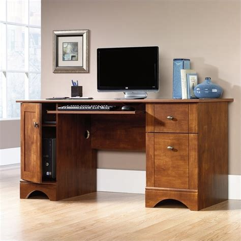 Sauder Brushed Maple Computer Desk Ebay Sauder Laptop Desk