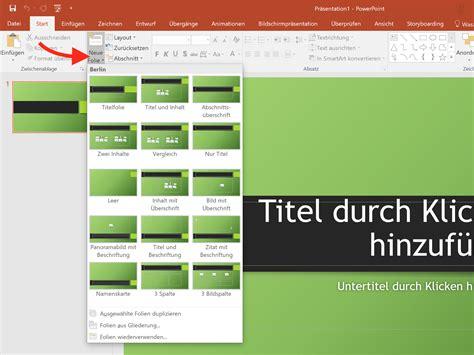 neues layout powerpoint erstellen powerpoint neue folie eines bestimmten typs erstellen