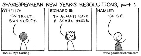 shakespearean new year s resolutions part 2 good tickle