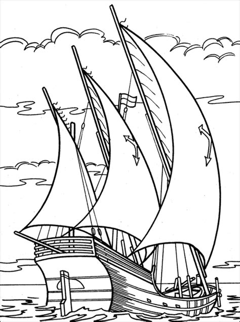 coloring pages for adults boats christopher columbus coloring page