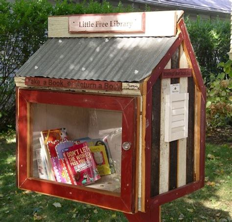 tiny library tiny house libraries are real in wisconsin