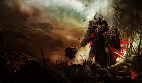 crusaders of light vs lineage 2 revolution 119 barbarian diablo iii hd wallpapers background