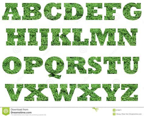 Het Alfabet Hoofdletters Het Gras Stock Illustratie