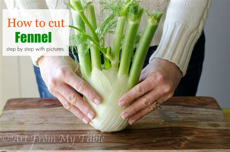 how to cut fennel art from my table