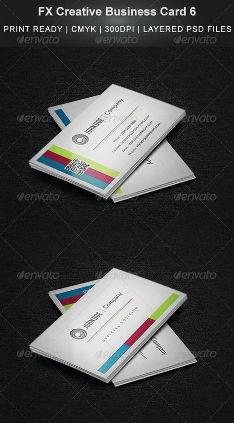 great fx business card template fx creative business card 6 graphicriver