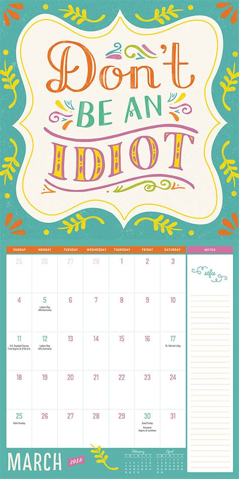 Buy Calendar 2018 10 Funniest Yearly Calendar 2018 You Would To Buy