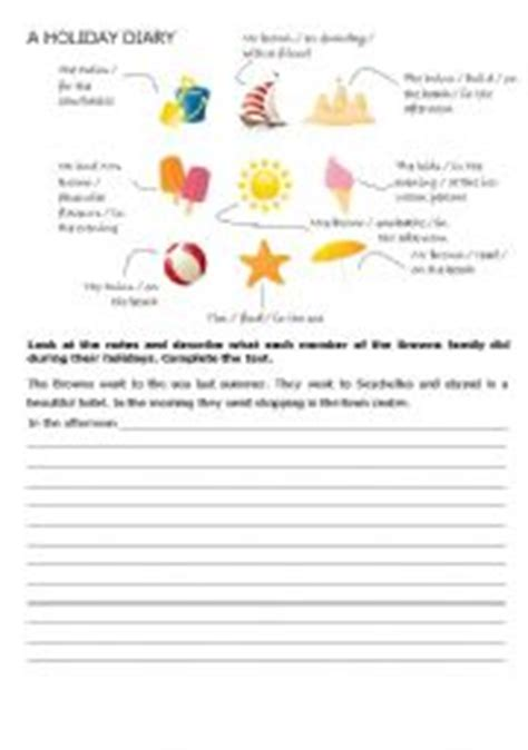 printable holiday diary english teaching worksheets a diary