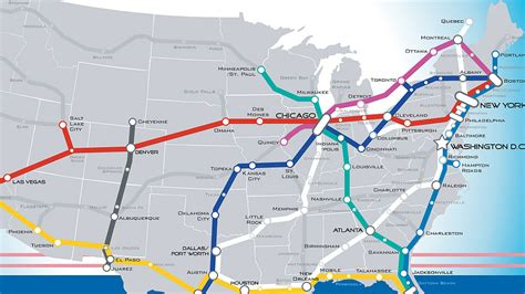 american rail network map a beautiful vision of an american high speed rail map co
