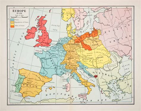 ottomans in europe 1935 print map europe france allies ottoman russia austria