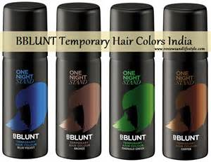 temporary color bblunt one stand temporary hair colour spray blue