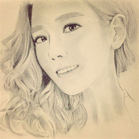 Taeyeon Sketch taeyeon snsd by denisegan on deviantart