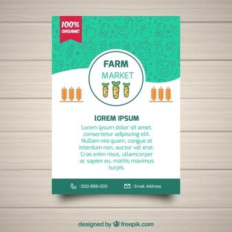 brochure flat design farm landscape with cattle vector free download